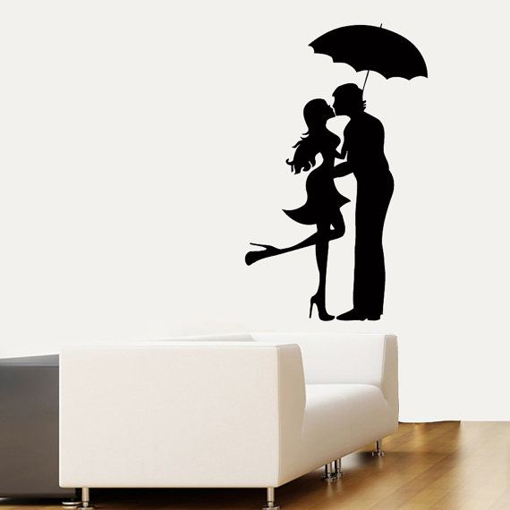 570x570 Wall Decals Lovers Man Woman Romantic Couple By Decalmyhappyshop
