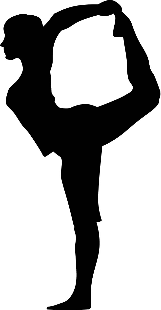 652x1252 Yoga Lord Of The Dance Pose Woman Silhouette Custom Wall Decals