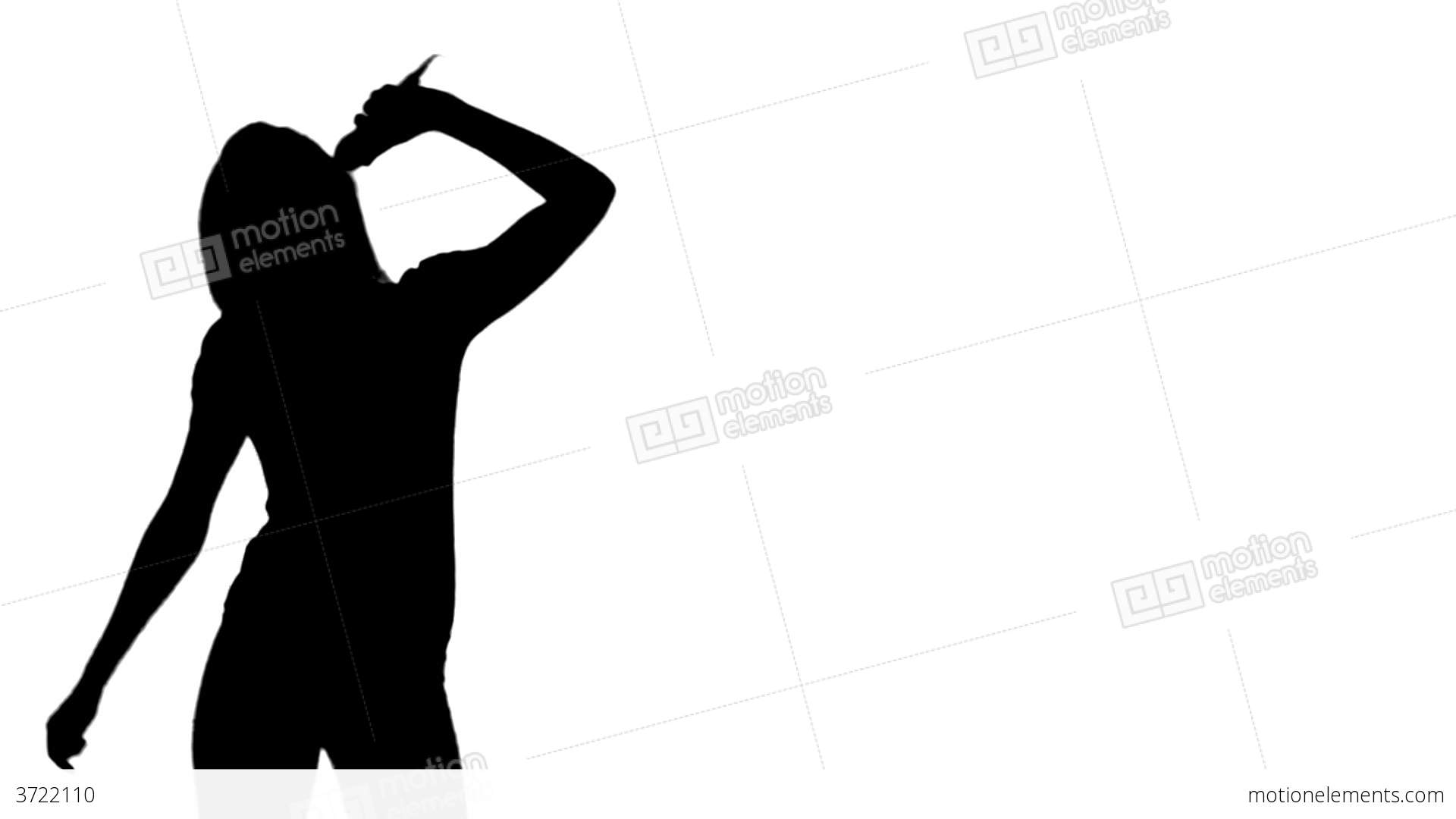 Woman Singing Silhouette
