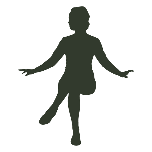 512x512 Woman Sitting Silhouette Open Arms