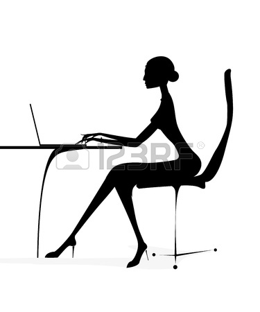 375x450 Business Woman Sitting Silhouette Silhouette Business Girl Woman