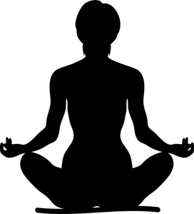 272x300 Yoga Clipart Image Clip Art Silhouette Of A Fit Woman Sitting