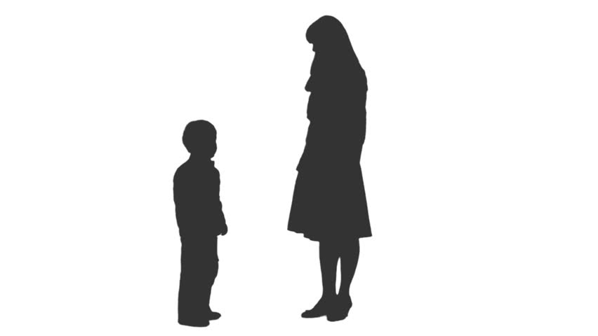 852x480 Silhouette Of Four Standing People, Two Men Using Smartphones