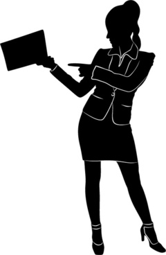 240x368 Professional Women Silhouette Free Vector Download (6,650 Free