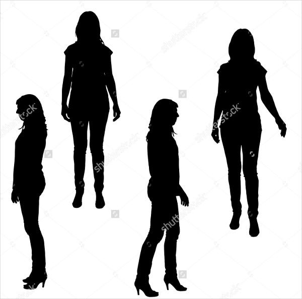 600x594 Woman Silhouette