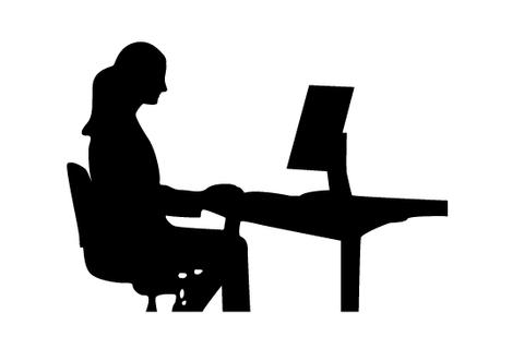 480x309 Woman Working Silhouette Vector Silhouettes Vector