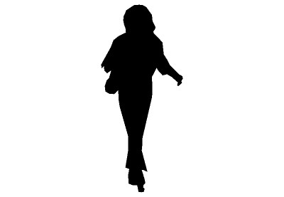 Woman Walking Silhouette