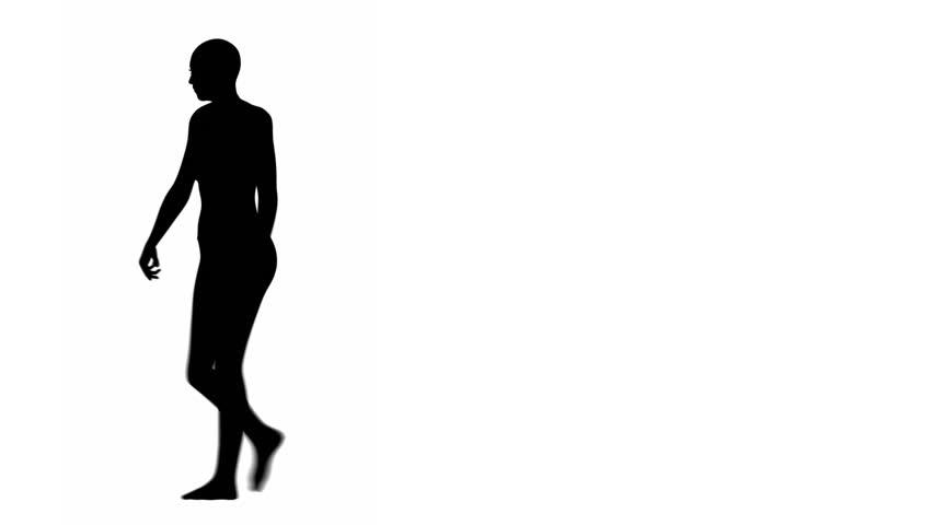 852x480 Silhouette Of A Woman Walking