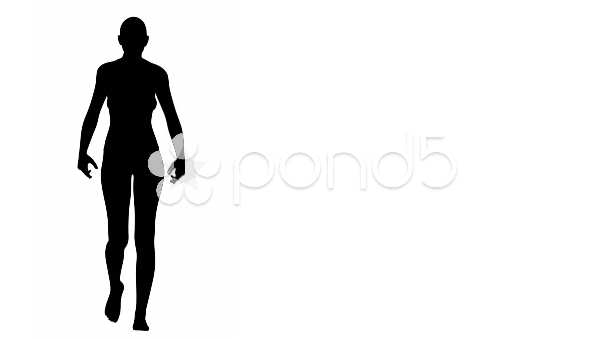 1920x1080 Silhouette Of A Woman Walking