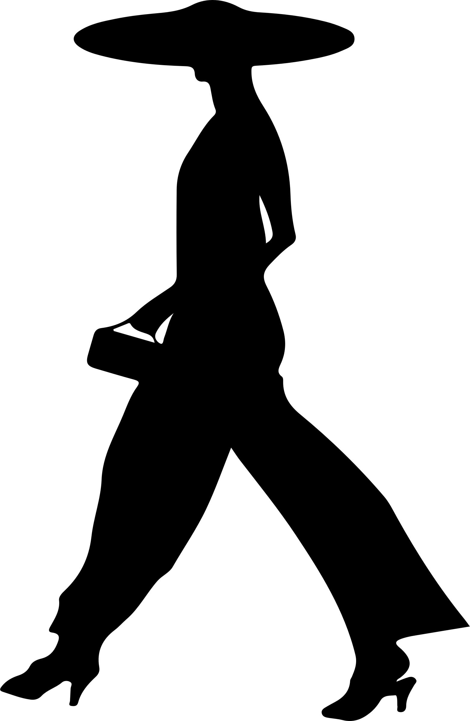 1564x2400 Woman Walking Silhouette Icons Png