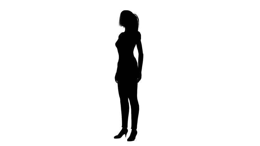 852x480 Woman Walking Silhouette Footage Stock Clips