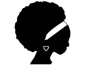 340x270 Afro Woman Svg Etsy