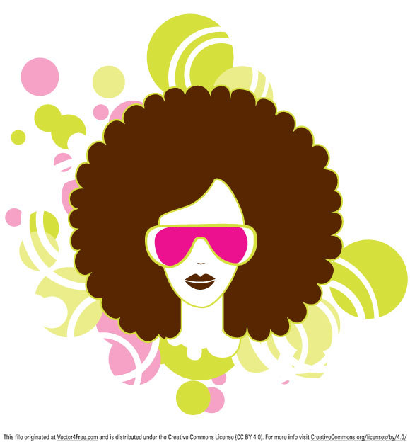580x631 Free Afro Woman Vector