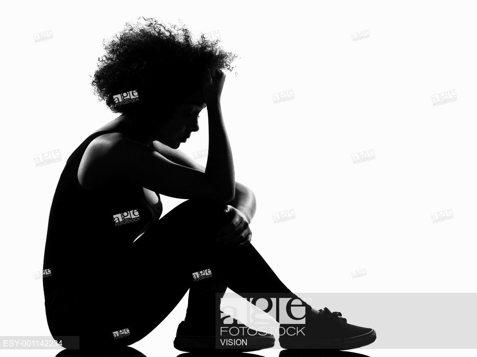 936x700 Beautiful Funny Young Afro American Woman Sit On The Floor Sadness