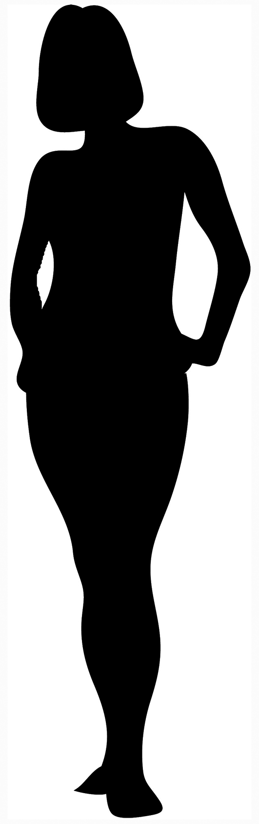 531x1684 Free Outline Of A Woman, Hanslodge Clip Art Collection