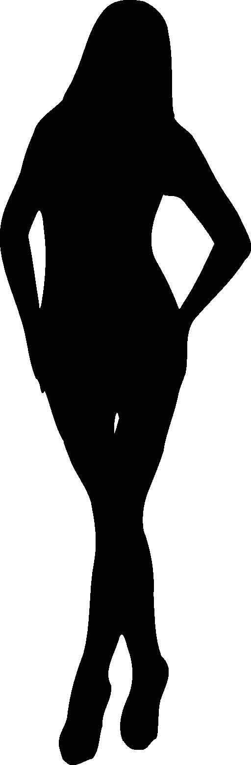 512x1561 Lady Silhouette Clip Art