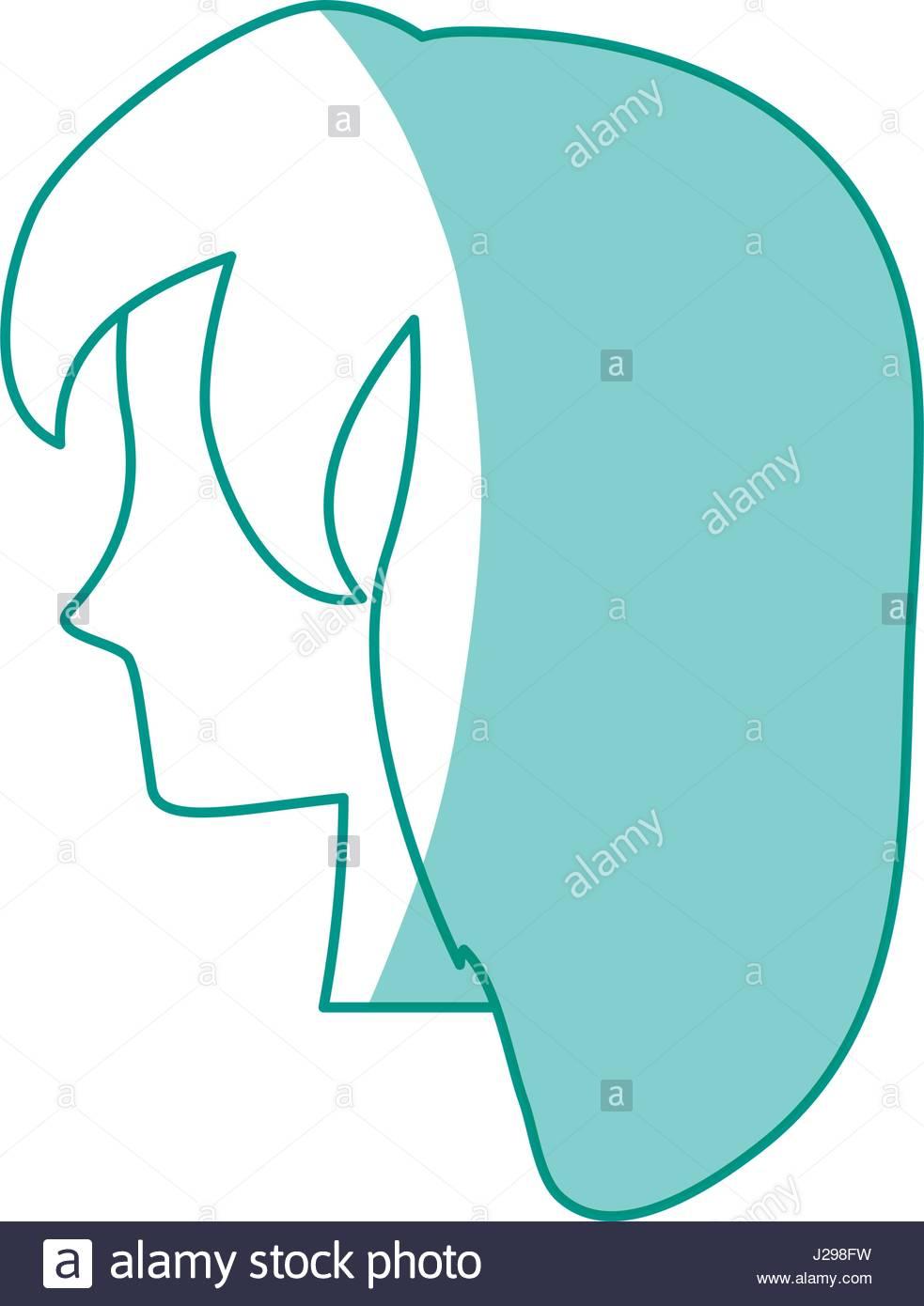 983x1390 Silhouette Woman Head Vector Stock Photos Amp Silhouette Woman Head