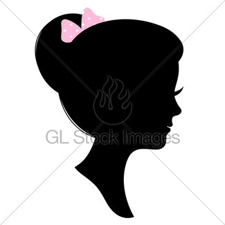 325x325 Vintage Girl Head Silhouette Isolated On White Gl Stock Images