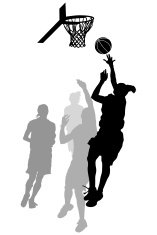157x235 Basketball Silhouettes Premium Clipart