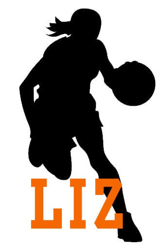 335x509 Personalized Basketball Silhouette Decal Vinyl Graphic