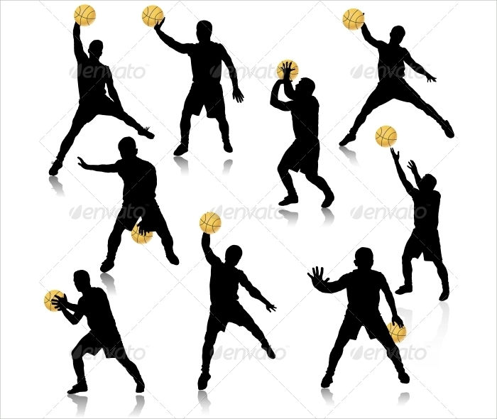700x590 Basketball Silhouette Designs