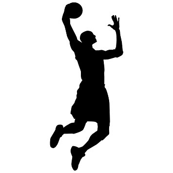 355x355 Basketball Wall Decal Sticker 15
