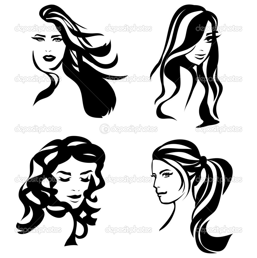 1019x1024 15 Hair Vector Art Woman Images