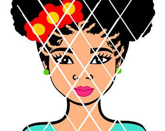 340x270 Afro Svg Elsa Big Hair Svg Black Women Svgsilhouette