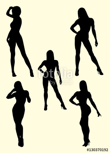 360x500 Muscle Women Silhouette. Good Use For Symbol, Logo, Web Icon, Sign