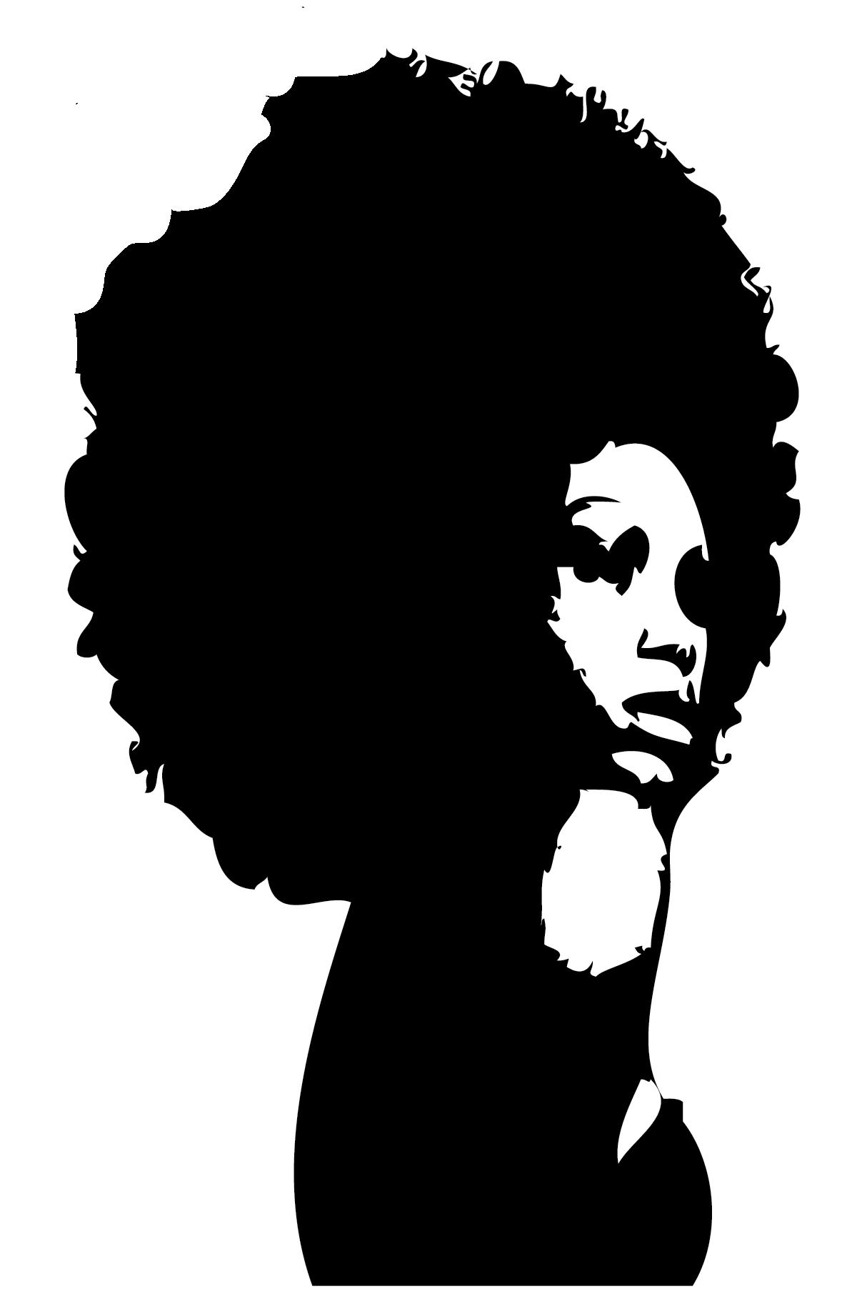 1186x1804 Women Hair Silhouette Clipart