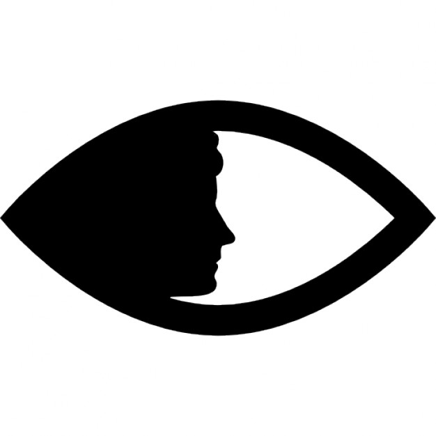 626x626 Women Face Side Silhouette In An Eye Shape Icons Free Download