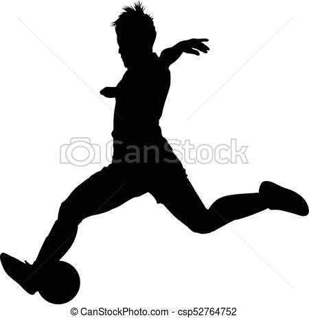 450x464 Soccer Women Silhouette. Girl Play Soccer Vector Clipart Vector