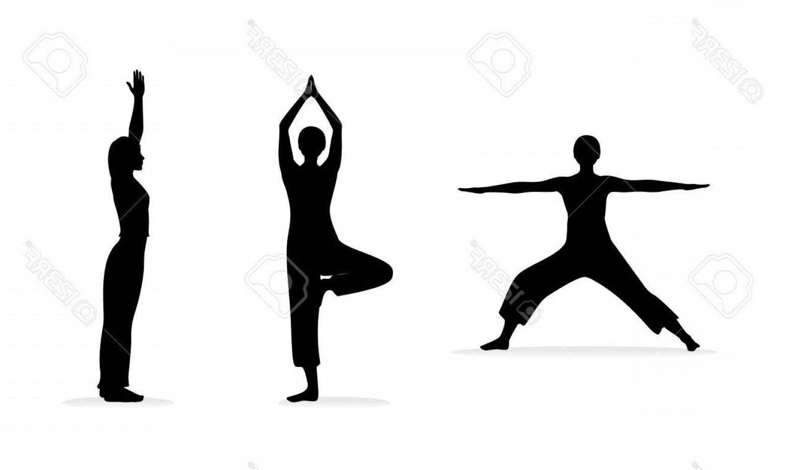 1560x934 Photofitness Or Yoga Women Silhouettes Vector Illustration Eps