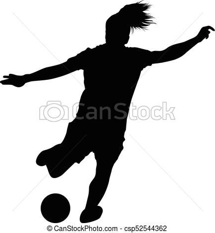 434x470 Soccwom01. Soccer Women Silhouette. Girl Player Vector Clip Art