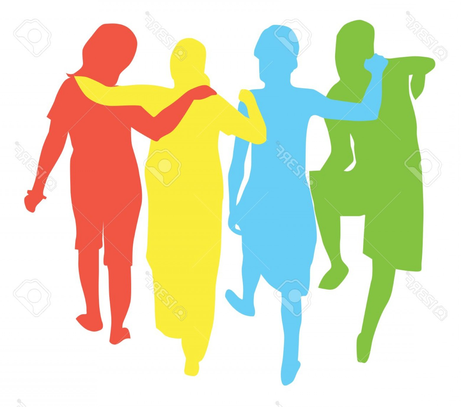 1560x1378 Women Group People Silhouette Vector Shopatcloth