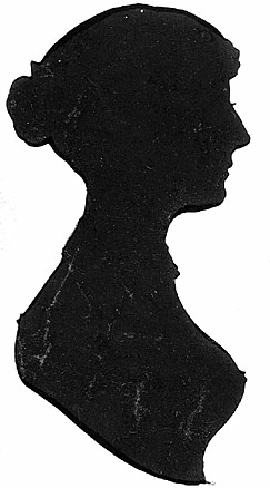 243x438 Victorian Woman Head Silhouette