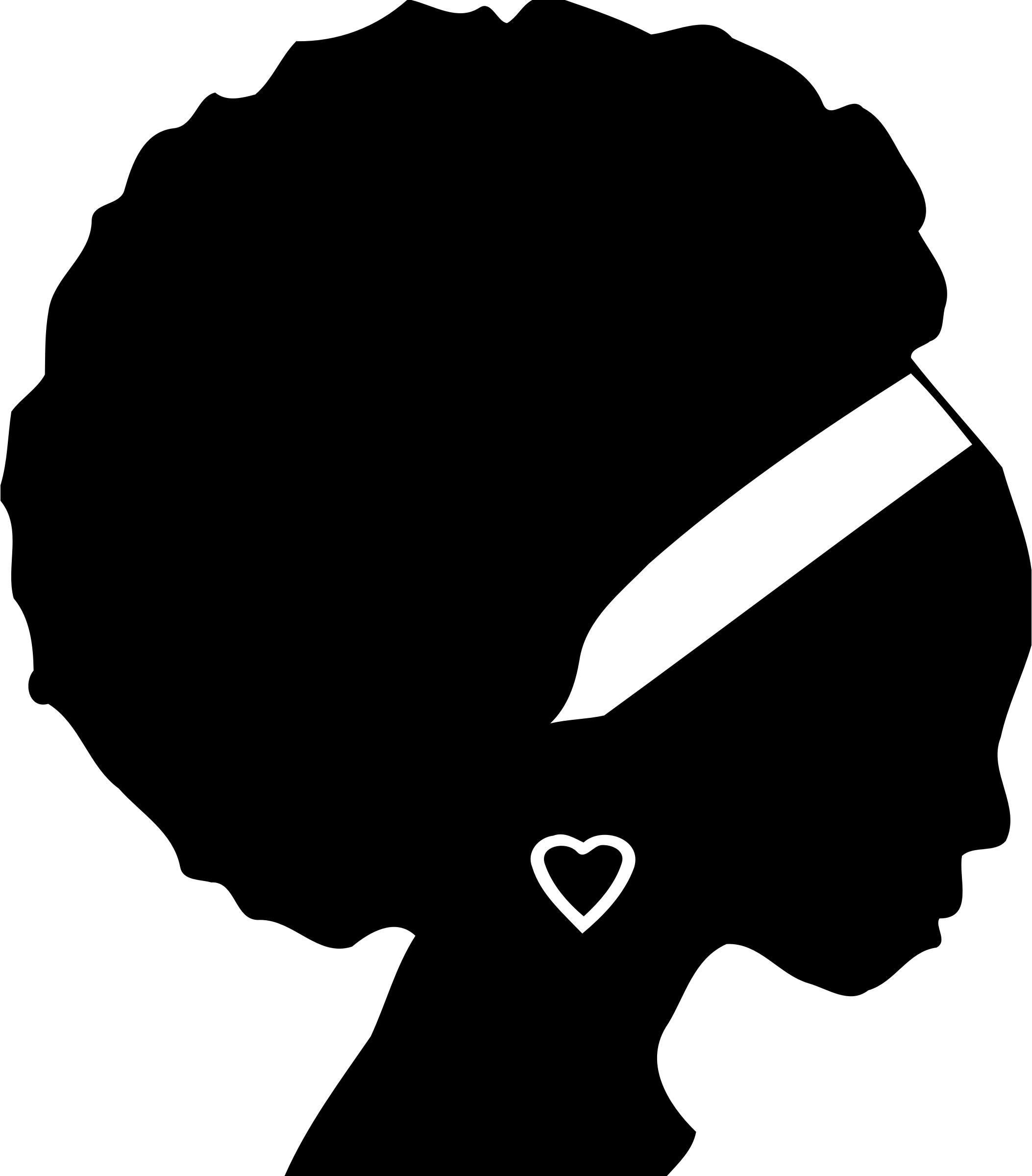 2106x2400 Woman's Head Silhouette 2 Icons Png