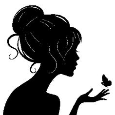 236x236 Victorian Woman Head Silhouette