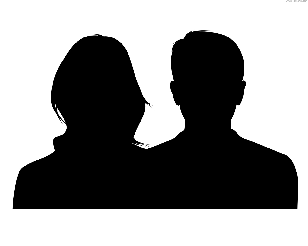 1280x1024 Female Head Silhouette