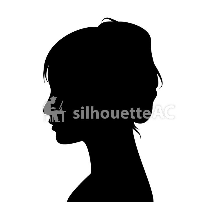750x750 Free Silhouette Vector Face, Pictogram, Face