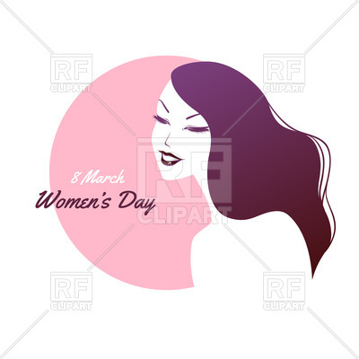 400x400 Silhouette Of Woman With Purple Hair