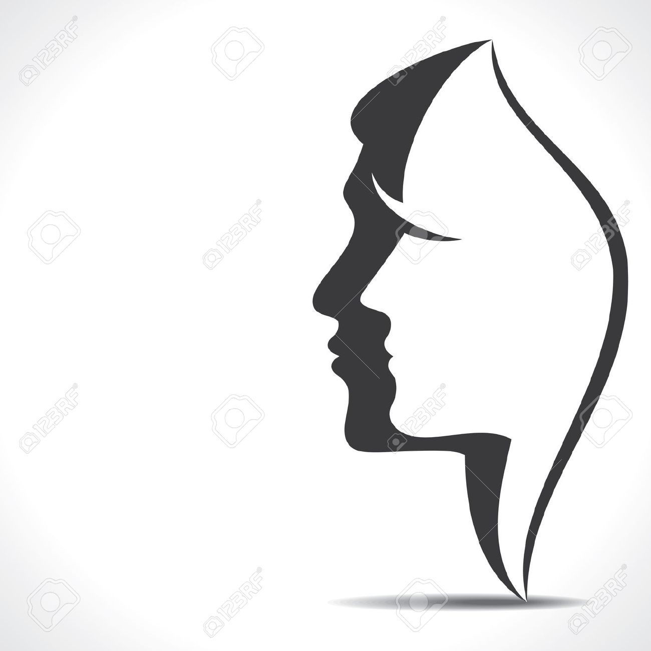 1300x1300 Woman Face Clipart Silhouette