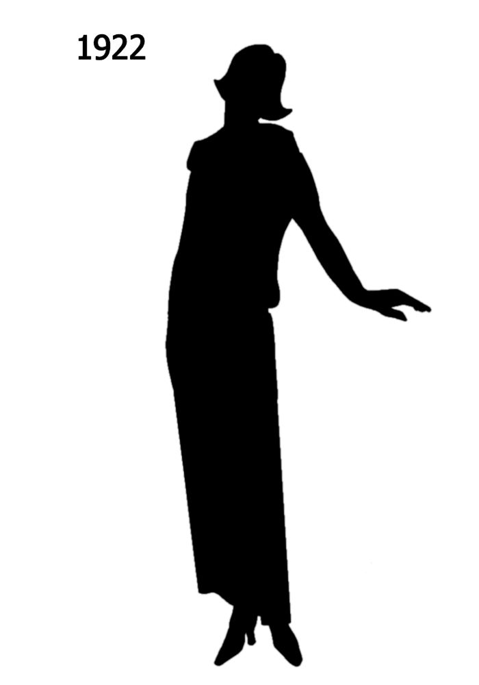 700x1000 Black Silhouettes 1920 To 1930 In Costume History