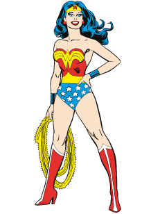 218x308 Stickers Wonder Woman Silhouette