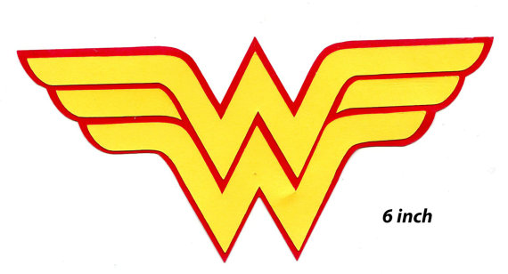 570x308 Wonder Woman Logo, Scrapbook Die Cut, Wonder Woman Symbol, Diecut