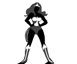 300x250 Wonder Woman Power Stance