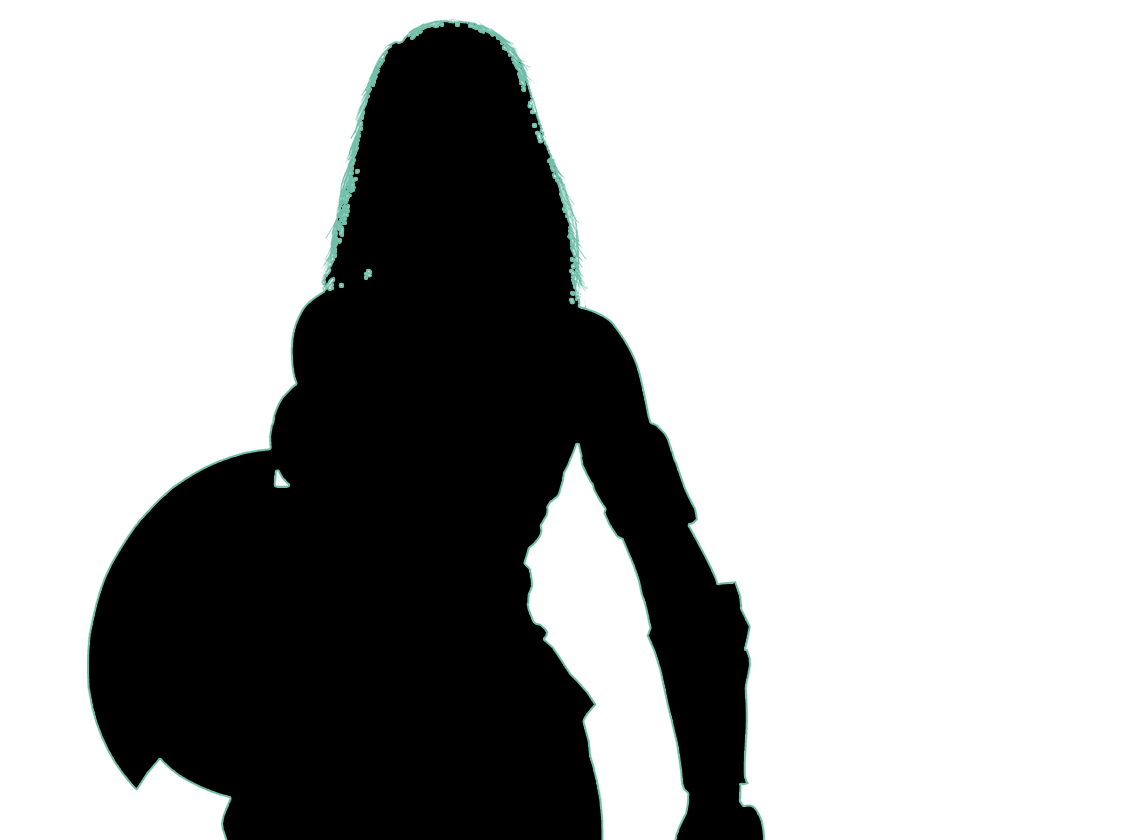 Wonder Woman Silhouette Png