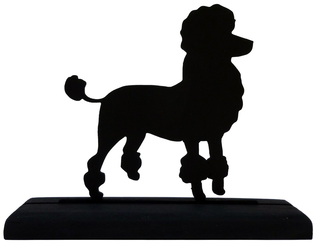 1100x848 Poodle Dog Decorative Handmade Wood Display Silhouette Lively