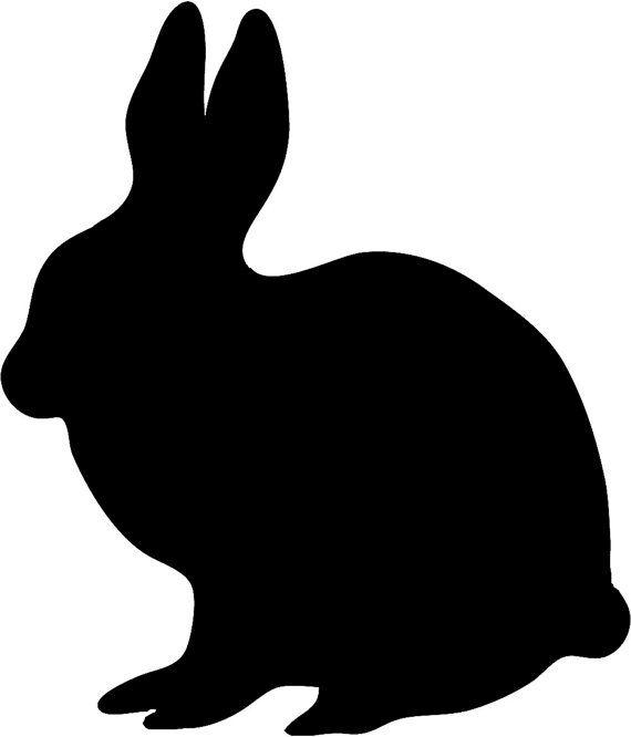 570x666 Rabbit Silhouette Stencil Wall Wood Sign Crafts By Jennastencils