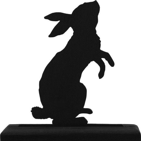 570x570 Standing Rabbit Handmade Wood Display Silhouette Decoration